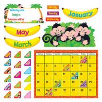 T-8340 - Monkey Mischief Calendar Bulletin Board Set in Calendars