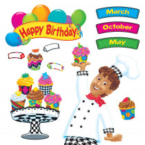T-8350 - Happy Birthday Bake Shop Bulletin Board Set in Classroom Theme