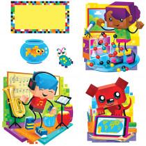 T-8380 - Blockstars Bulletin Board Set in Classroom Theme