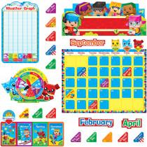 T-8381 - Blockstars Calendar Bulletin Board Set in Calendars
