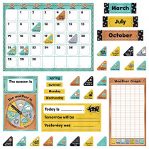 T-8425 - Calendar Bulletin Board St I Heart Metal in Classroom Theme