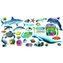T-8603 - Coastal Sea Life Mini Bulletin Board Set in Science