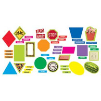 T-8708 - Geometric Shapes Mini Bulletin Board Set in Math