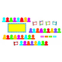 T-8711 - Showtime Pockets Mini Bulletin Board Set in Classroom Theme