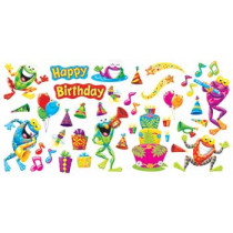 T-8717 - Frog Tastic Birthday Party Mini Bulletin Board Set in Classroom Theme
