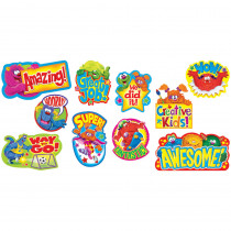 T-8736 - Furry Friends Wow Words Mini Bulletin Board Set in Classroom Theme