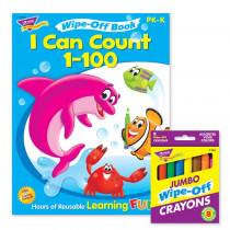 I Can Count 1-100 Book and Crayons Reusable Wipe-Off Activity Set - T-90915 | Trend Enterprises Inc. | Art Activity Books