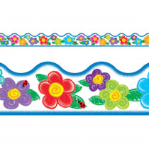 T-92146 - Crayon Flowers Terrific Trimmer in Border/trimmer