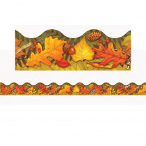 T-92337 - Leaves Of Autumn Trimmers Scalloped Edge 12/Pk 2.25 X 39 Total in Border/trimmer