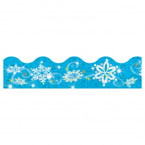 T-92403 - Trimmer Sparkle Snowflakes in Border/trimmer