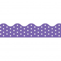 T-92666 - Polka Dots Purple Terrific Trimmers in Border/trimmer
