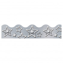 T-92682 - Silver Stars Terrific Trimmers I Heart Metal in Border/trimmer