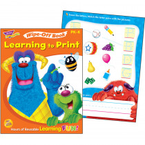 T-94145 - Learning To Print Furry Friends Wipe Off Book Gr Pk-K in Language Arts