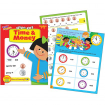 T-94219 - Time & Money 28Pg Wipe-Off Book in Language Arts