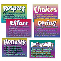 T-A6681 - Poster Pk Character Traits 6/Pk 13 X 19 in Social Studies