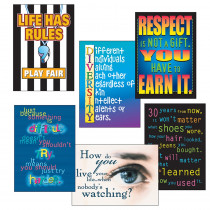 T-A6682 - Poster Pk Building Character 6/Pk 13 X 19 in Social Studies