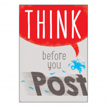 T-A67093 - Think Before You Post Argus Poster in Motivational