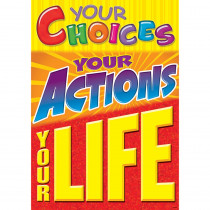 T-A67321 - Your Choices Your Actions Poster in Motivational