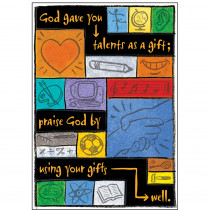 T-A67707 - Poster Your Talents Are Gods Gifts To You How You Use Them Is Your G in Inspirational