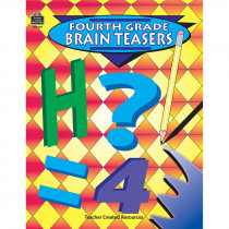 TCR0489 - Fourth Grade Brain Teasers in Activity Books