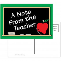 TCR1202 - A Note From The Teacher 30Pk Postcards 4X6 in Postcards & Pads