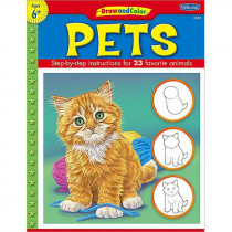 TCR18904 - Draw And Color Pets in Art Activity Books