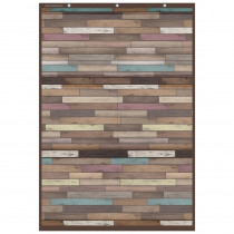 """Reclaimed Wood Large 6 Pocket Chart, 26 x 38"""" - TCR20326 