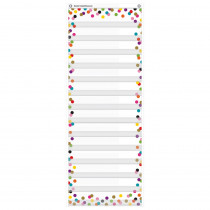 """Confetti 14 Pocket Daily Schedule Pocket Chart, 13 x 34"""" - TCR20330 
