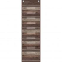 "Dark Wood 10 Pocket File Storage Pocket Chart, 14 x 58"" - TCR20331 | Teacher Created Resources | Pocket Charts"""