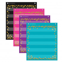 """Confetti Colorful Magnetic Mini Pocket Charts, 14 x 17"""" - TCR20332 