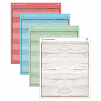 """Painted Wood Magnetic Mini Pocket Charts, 14 x 17"""" - TCR20333 