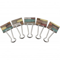 Reclaimed Wood Medium Binder Clips - TCR20334 | Teacher Created Resources | Clips