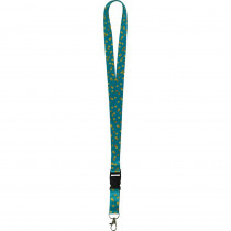 Teal Confetti Lanyard - TCR20349 | Teacher Created Resources | Accessories
