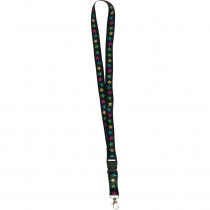 Chalkboard Brights Star Lanyard - TCR20351 | Teacher Created Resources | Accessories