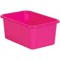 Pink Small Plastic Storage Bin - TCR20384 | Teacher Created Resources | Storage Containers