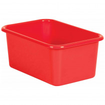 Red Small Plastic Storage Bin - TCR20385 | Teacher Created Resources | Storage Containers