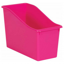 Pink Plastic Book Bin - TCR20390 | Teacher Created Resources | Storage Containers