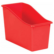 Red Plastic Book Bin - TCR20391 | Teacher Created Resources | Storage Containers