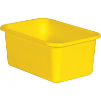 Yellow Small Plastic Storage Bin - TCR20392 | Teacher Created Resources | Storage Containers