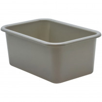 Gray Small Plastic Storage Bin - TCR20395 | Teacher Created Resources | Storage Containers