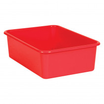 Red Large Plastic Storage Bin - TCR20404 | Teacher Created Resources | Storage Containers