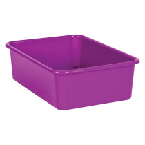 Purple Large Plastic Storage Bin - TCR20405 | Teacher Created Resources | Storage Containers
