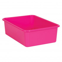 Pink Large Plastic Storage Bin - TCR20408 | Teacher Created Resources | Storage Containers