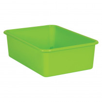 Lime Large Plastic Storage Bin - TCR20409 | Teacher Created Resources | Storage Containers