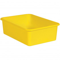 Yellow Large Plastic Storage Bin - TCR20410 | Teacher Created Resources | Storage Containers