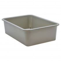 Gray Large Plastic Storage Bin - TCR20413 | Teacher Created Resources | Storage Containers