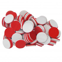 TCR20600 - Foam Counters Red & White in Counting