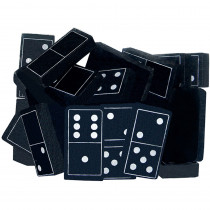 TCR20601 - Foam Dominoes Black in Dominoes