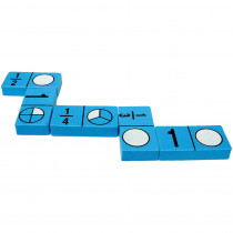 TCR20627 - Foam Fraction Dominoes in Fractions & Decimals