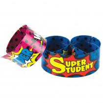 TCR20664 - Slap Bracelets Superhero Super Student in Novelty